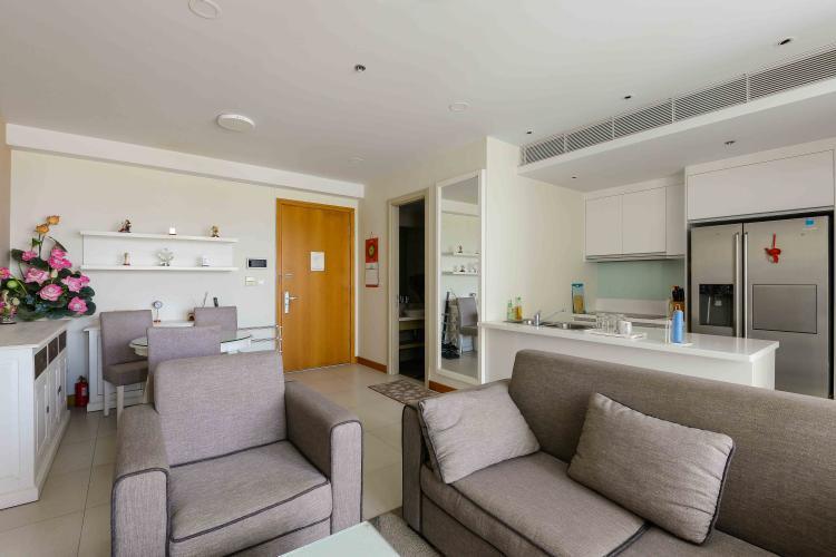 Phòng Khách căn hộ Diamond Island - Đảo Kim Cương Cho thuê căn hộ Diamond Island - Đảo Kim Cương 1PN, tầng trung, diện tích 81m2, view sông , đầy đủ nội thất