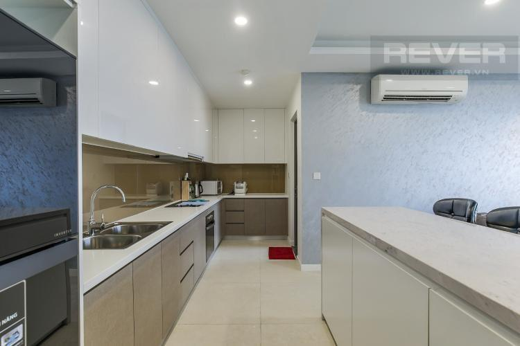 Khu vực bếp Masteri Millennium Quận 4 Căn hộ Masteri Millennium tầng 7, đầy đủ nội thất.