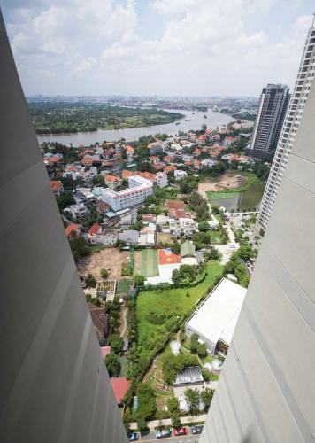 View ban công Masteri Thảo Điền Quận 2 Căn hộ Masteri Thảo Điền view sông, nội thất đầy đủ.