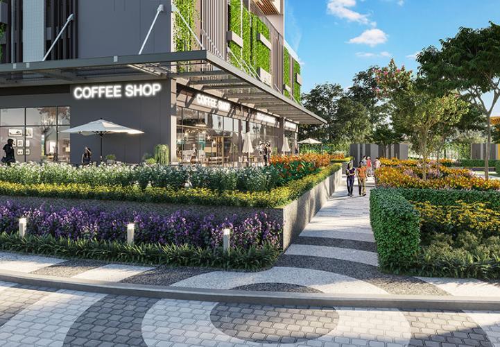 Tiện ích khu mua sắm Căn hộ Opal Boulevard hướng cửa Tây Nam, ban công Đông Bắc.