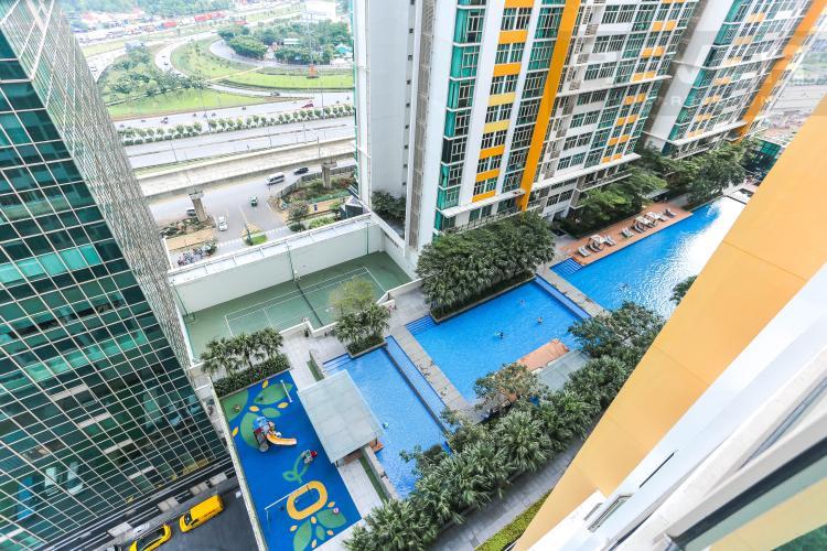 View Căn hộ The Vista An Phú tầng trung, 2PN, nội thất đầy đủ, view hồ bơi