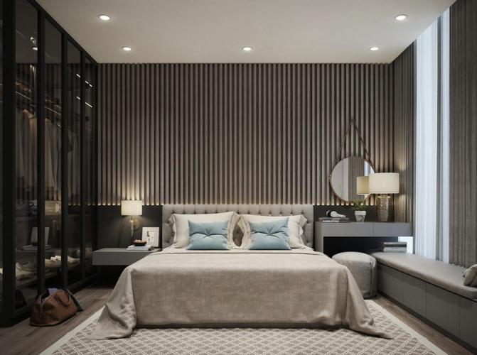 Phòng ngủ căn hộ Ascent Lakeside, Quận 7 Căn hộ Ascent Lakeside view tầng cao thoáng mát, nội thất cơ bản.