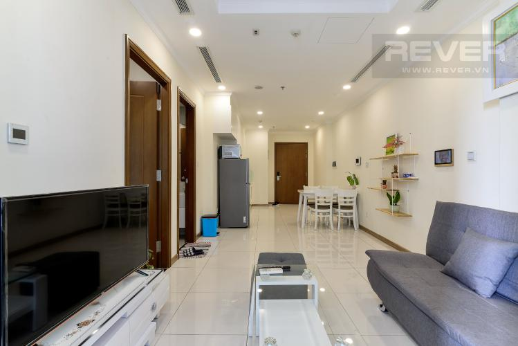 Phòng Khách Bán căn hộ Vinhomes Central Park 1PN, tầng trung, diện tích 50m2, đầy đủ nội thất