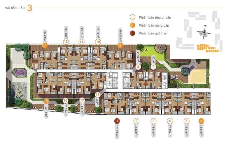 Layout tầng căn hộ Akari City, Bình Tân Căn hộ chung cư Akari City ban công hướng Nam, view đón gió mát.