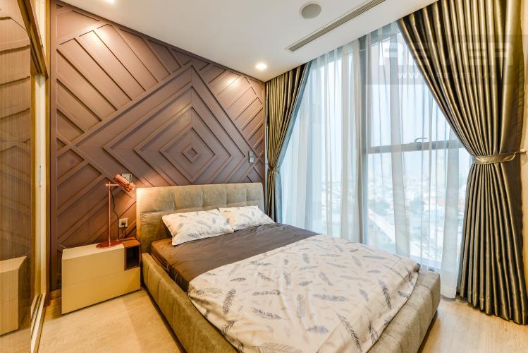 Phòng ngủ Bán và cho thuê căn hộ Vinhomes Golden River 1PN đầy đủ nội thất view sông