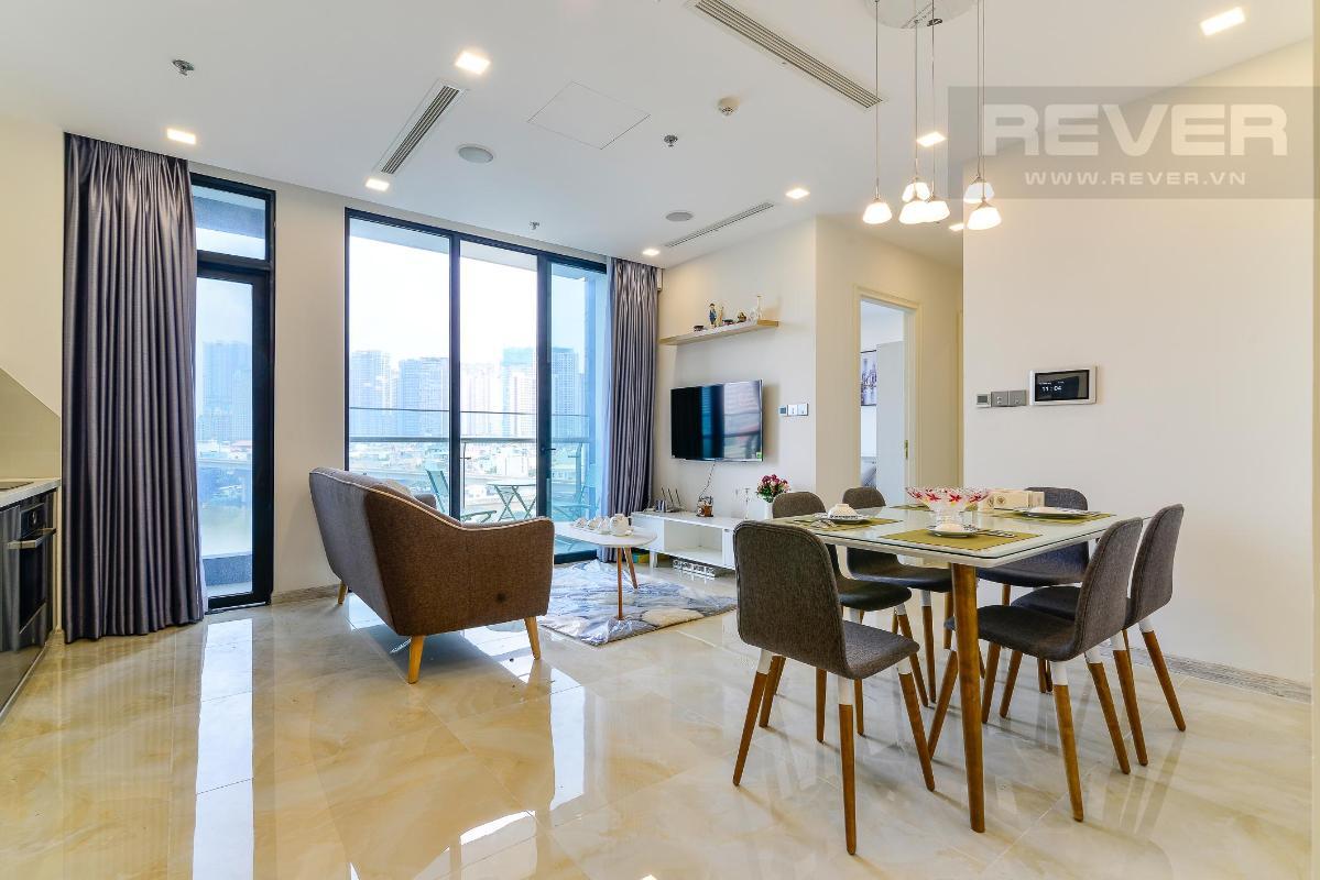 3 Cho thuê căn hộ Vinhomes Golden River 2PN, tầng thấp, đầy đủ nội thất, view sông và Landmark 81