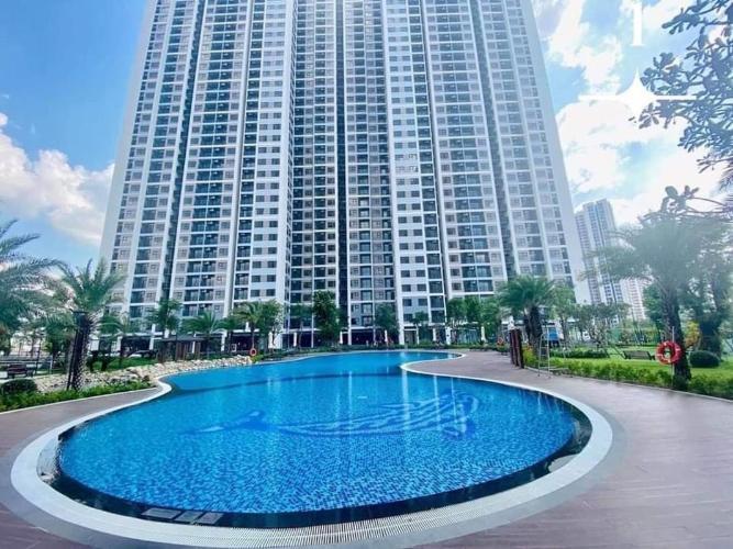 toà nhà căn hộ vinhomes grand park Căn hộ Vinhomes Grand Park tầng 16 nội thất cơ bản, view nội khu.