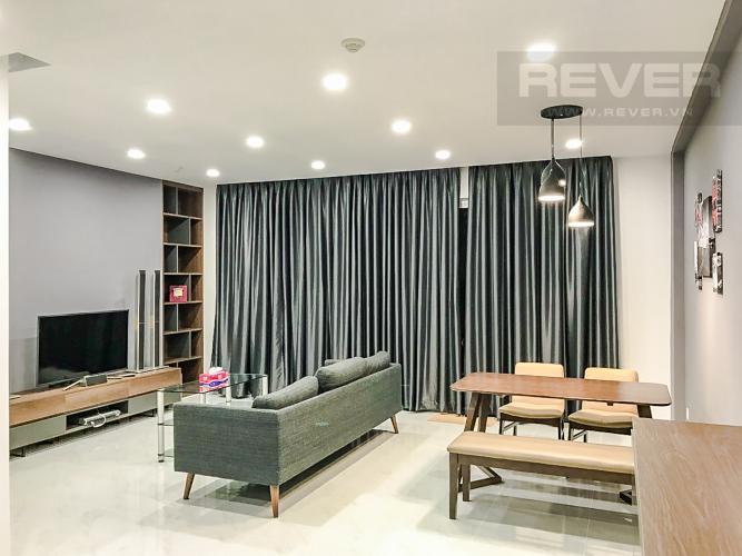 Phòng Khách Cho thuê căn hộ Sunrise Riverside 3PN, diện tích 83m2, đầy đủ nội thất, view hồ bơi nội khu
