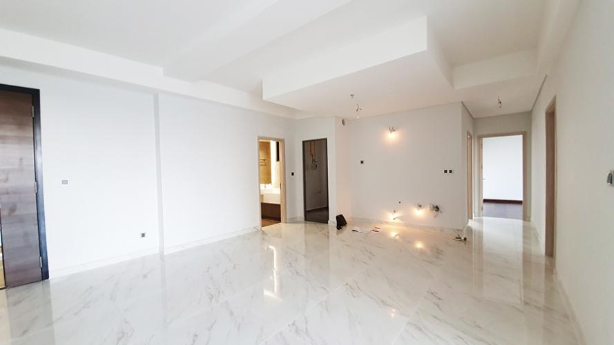 Phòng khách Phú Mỹ Hưng Midtown Căn hộ Phú Mỹ Hưng Midtown nội thất cơ bản, thiết kế gam màu trắng.