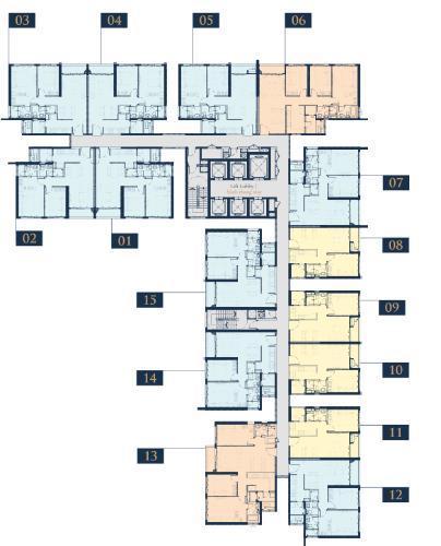 Layout Feliz En Vista Căn hộ Feliz En Vista tầng 12, bàn giao thô, 2 phòng ngủ.