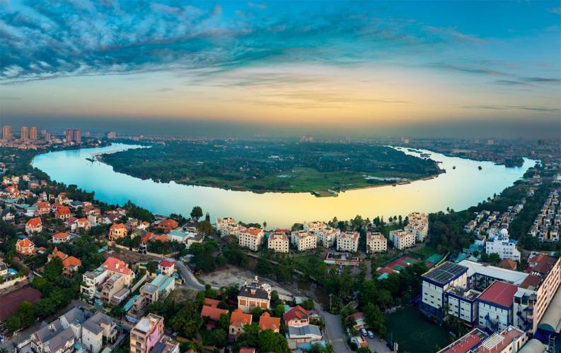 View sông Sài Gòn từ dự án Q2 THAO DIEN Căn hộ Q2 Thảo Điền tầng cao nội thất cơ bản, dọn vào ở ngay.