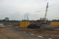Cận cảnh công trường xây dựng Palm City mới nhất 2017