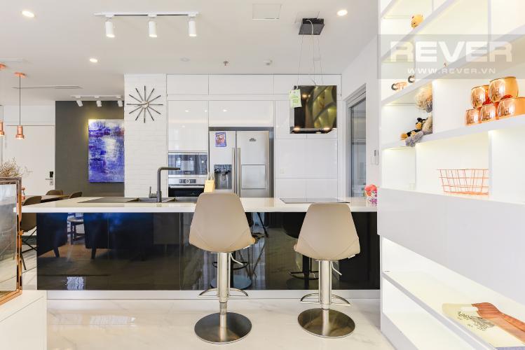 Bếp Căn hộ Vinhomes Central Park tầng thấp C1 thiết kế đẹp, đầy đủ tiện nghi
