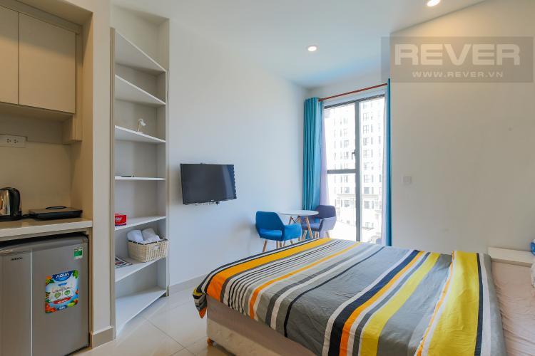 Phòng Ngủ Bán căn hộ The Tresor 1PN 1WC, đầy đủ nội thất, view hồ bơi
