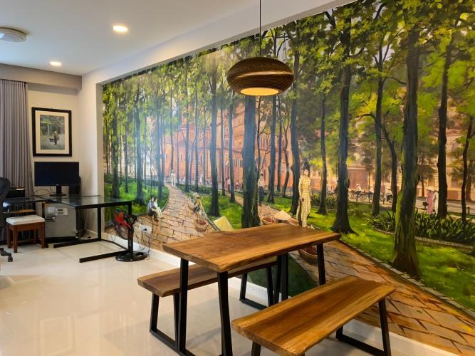 Cho thuê căn hộ Icon 56, diện tích 51m2, đầy đủ nội thất, hướng Tây Nam, view Bitexco và kênh Bến Nghé
