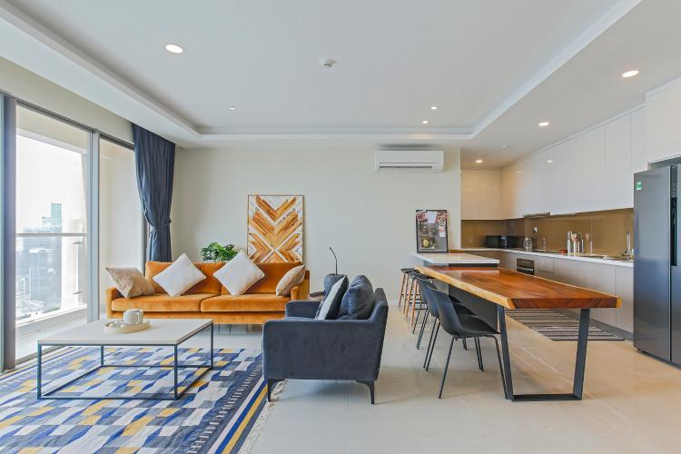 Bán hoặc cho thuê căn hộ Masteri Millennium tầng cao, 3PN 2WC, đầy đủ nội thất, view sông và Bitexco