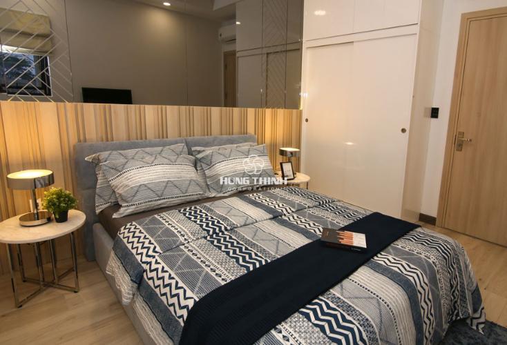 Nội thất phòng ngủ master Q7 Sài Gòn Riverside Căn hộ Q7 Saigon Riverside 1 phòng ngủ, ban công hướng Tây.