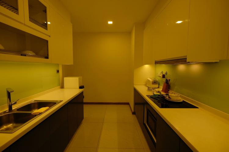 Phòng bếp căn hộ Vinhomes Central Park Bán căn hộ Vinhomes Central Park 3PN, diện tích 116m2, đầy đủ nội thất, hướng ban công Tây Nam