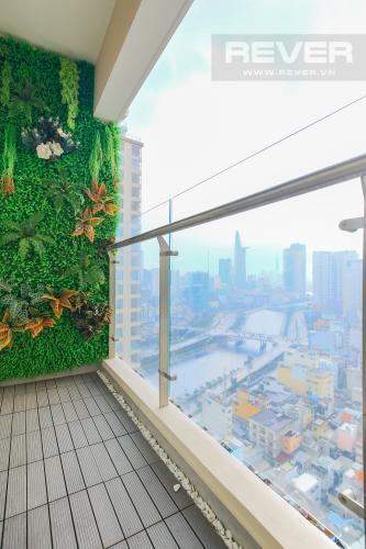 Balcony Cho thuê căn hộ Masteri Millennium tầng cao, 2PN đầy đủ nội thất view sông