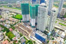 Toàn cảnh công trường xây dựng dự án Q2 THAO DIEN tháng 9/2018