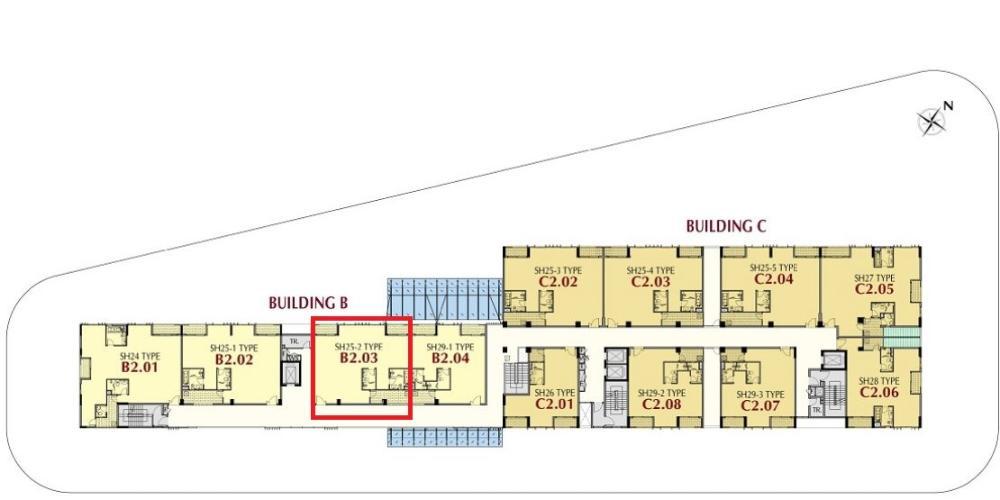 layout Phú Mỹ Hưng Midtown Shop-house Phú Mỹ Hưng Midtown nhà thô, ban công hướng Đông Bắc.