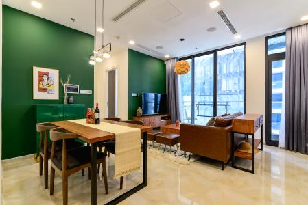 Cho thuê căn hộ Vinhomes Golden River 2PN 2WC, đầy đủ nội thất, view hướng sông