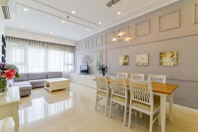 Căn hộ Saigon Pearl 2 phòng ngủ tầng trung Sapphire đầy đủ nội thất