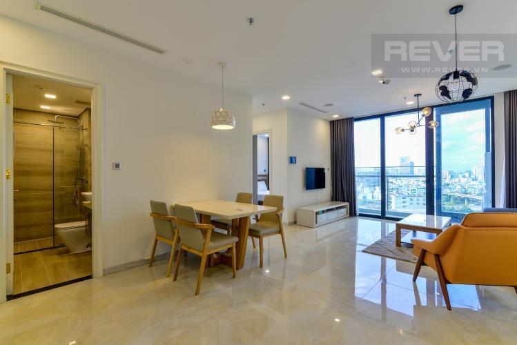 Phòng Khách Bán căn hộ Vinhomes Golden River 2PN, tháp The Aqua 1, đầy đủ nội thất, view trực diện sông Sài Gòn