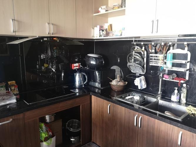 Phòng bếp căn hộ The Sun Avenue Căn hộ Vinhomes Grand Park tầng 24, bàn giao nội thất đầy đủ.