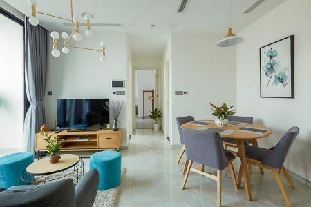 Cho thuê căn hộ Vinhomes Golden River 2PN, diện tích 74m2, đầy đủ nội thất, view Landmark 81