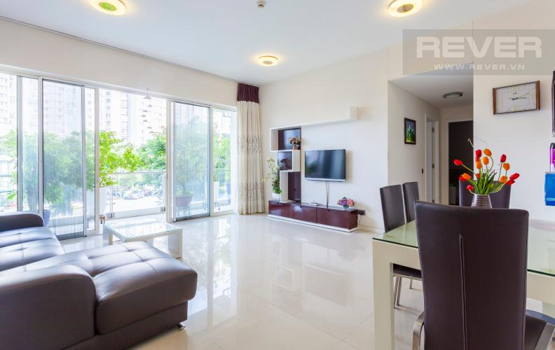 Phòng khách Căn hộ Estella An Phú tầng thấp 2 phòng ngủ, nội thất đầy đủ