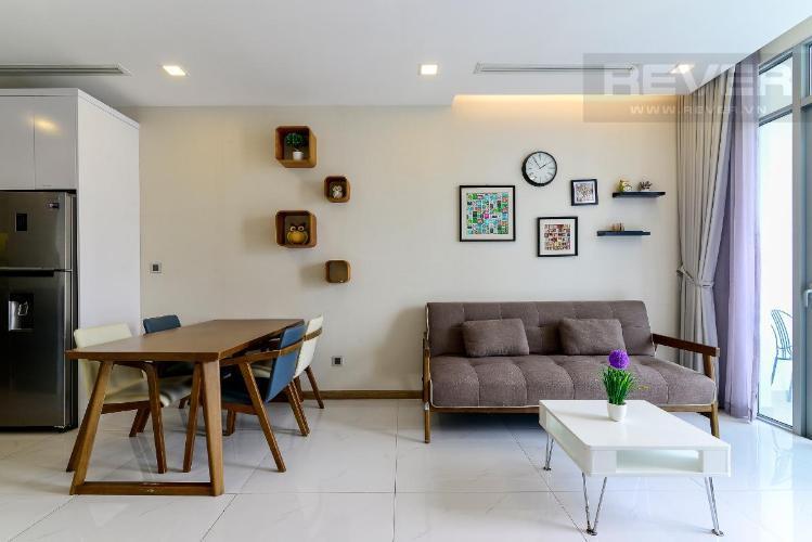 3 Bán căn hộ Vinhomes Central Park 1PN, tháp Park 7, đầy đủ nội thất, view hồ bơi và mé sông