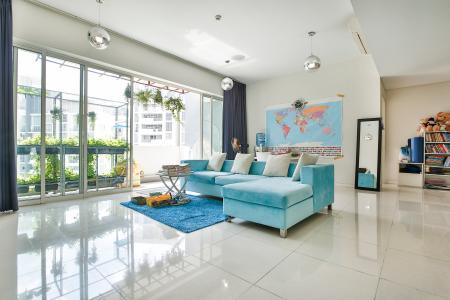 Căn hộ The Estella Residence tầng cao 3A, 3 phòng ngủ, đầy đủ nội thất
