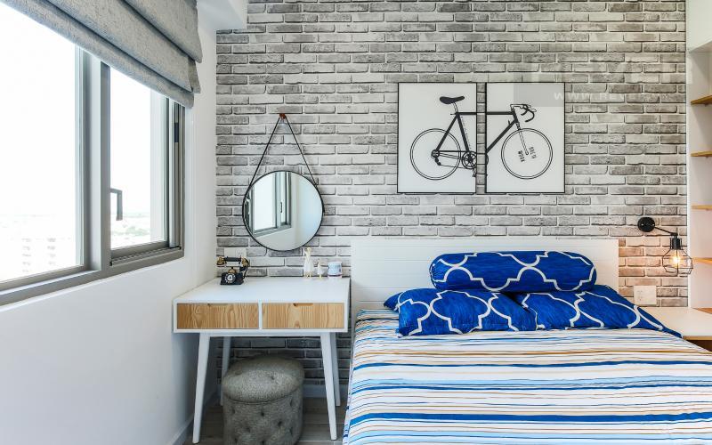 Phòng Ngủ 2 Căn hộ Happy Residence 2 phòng ngủ tầng trung tháp B nội thất đầy đủ