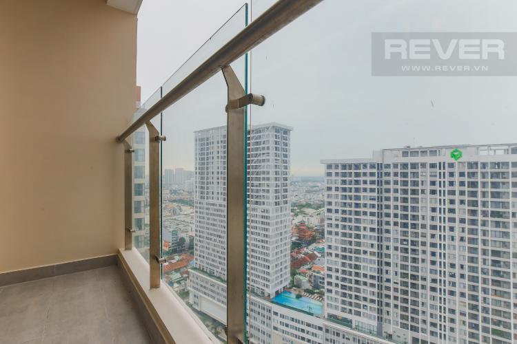 Balcony Căn hộ Masteri Millennium tầng cao, 1PN nội thất đầy đủ