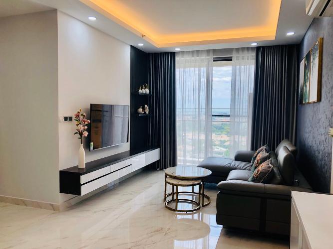 Phòng Khách căn hộ PHÚ MỸ HƯNG MIDTOWN Cho thuê căn hộ Phú Mỹ Hưng Midtown 2PN, diện tích 89m2, đầy đủ nội thất, view khu biệt thự