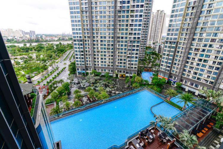 View Bán căn hộ Vinhomes Central Park 1PN, tháp Landmark 81, đầy đủ nội thất, view trực diện hồ bơi