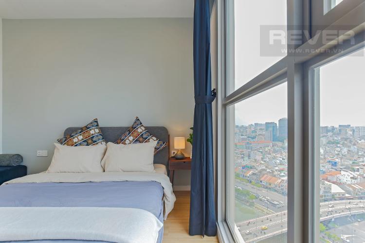 Phòng Ngủ 3 Bán hoặc cho thuê căn hộ Masteri Millennium tầng cao, 3PN 2WC, đầy đủ nội thất, view sông và Bitexco