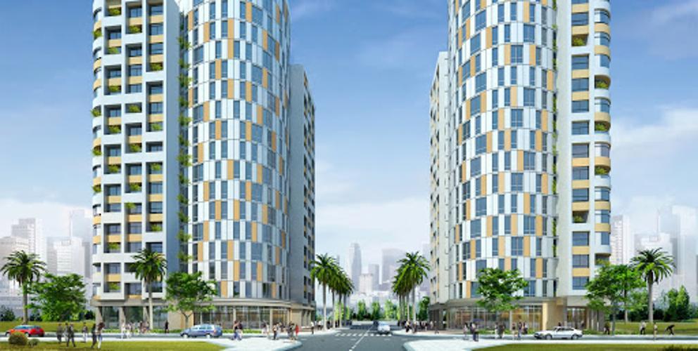 Skyway Residence, Bình Chánh Căn hộ Skyway Residence tầng thấp, view thành phố.