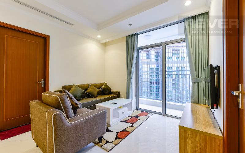 Phòng khách Căn hộ Vinhomes Central Park 3 phòng ngủ tầng cao L1 nội thất đầy đủ