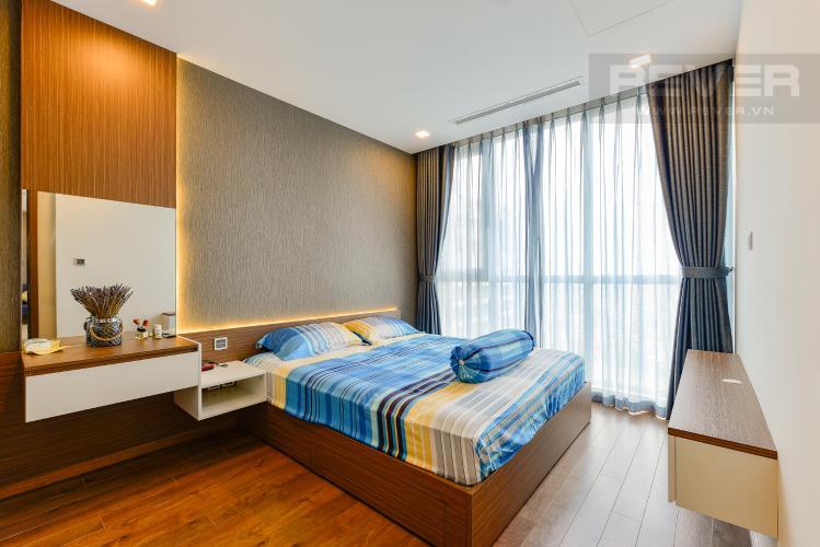 phòng ngủ 1 Căn hộ Vinhomes Central Park tầng cao Park 6 nội thất đầy đủ
