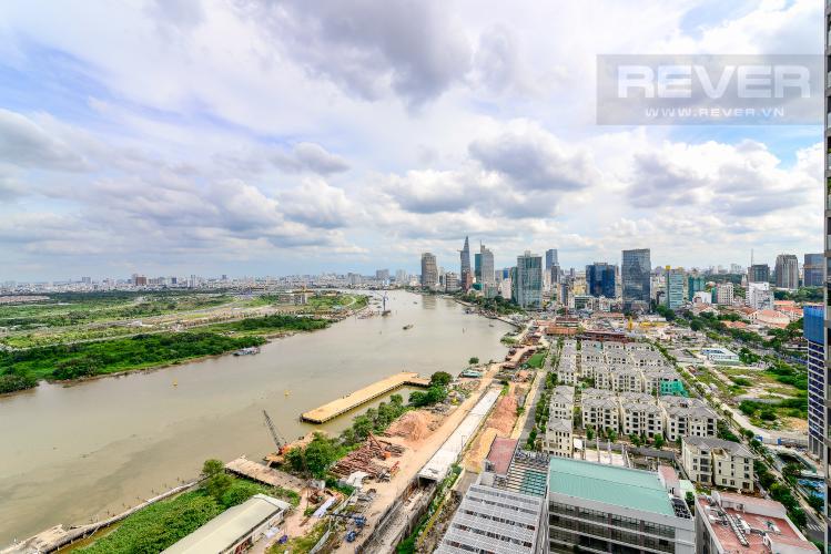 View Bán căn hộ Vinhomes Golden River 2PN, tầng trung, tháp The Aqua 4, đầy đủ nội thất, view sông Sài Gòn