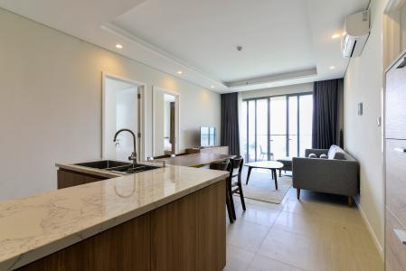 Cho thuê căn hộ Đảo Kim Cương 2 phòng ngủ, view sông thoáng mát, đầy đủ nội thất