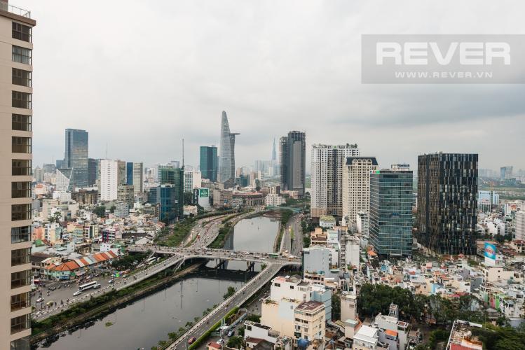 View Cho thuê căn hộ Masteri Millennium tầng cao, view sông 2PN đầy đủ nội thất