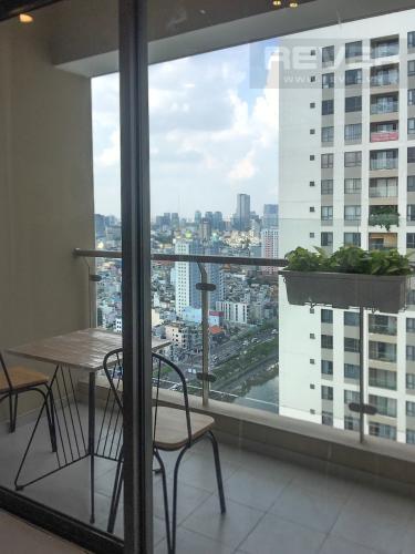 View Balcony Bán căn hộ The Gold View 2PN, tầng thấp, đầy đủ nội thất, view kênh Bến Nghé và thành phố