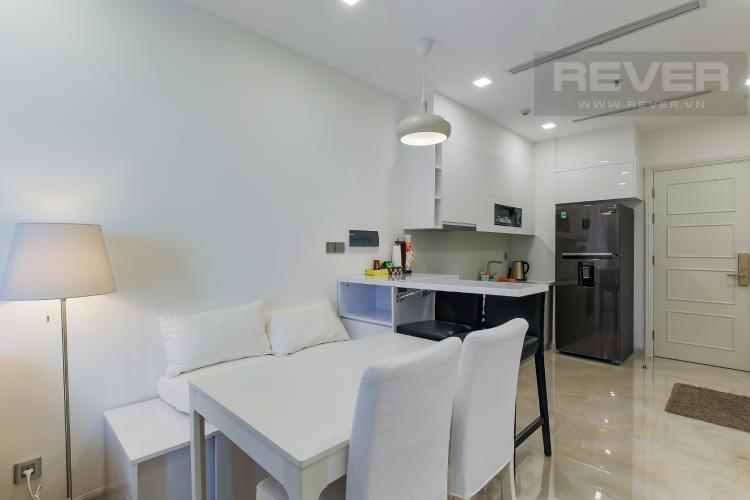 Phòng Bếp Bán căn hộ Officetel Vinhomes Golden River 1PN, đầy đủ nội thất, view sông Sài Gòn