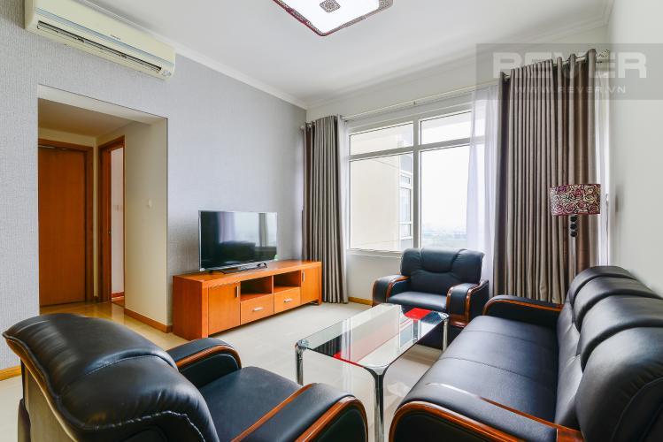 Phòng Khách Căn hộ Saigon Pearl 2 phòng ngủ tầng cao tòa Topaz view về Quận 1