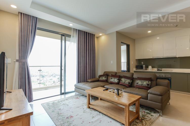 Phòng Khách Căn hộ The Gold View 3 phòng ngủ tầng trung tháp B hướng Đông Nam