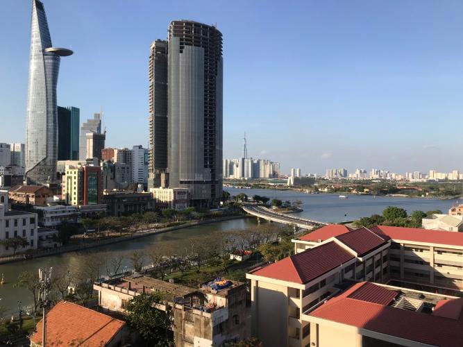 View căn hộ Saigon Royal , Quận 4 Căn hộ Saigon Royal tầng 9 view sông và Bitexco tuyệt đẹp