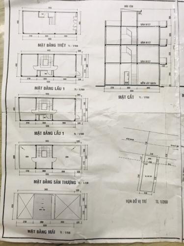 Bản vẽ nhà phố đường số 1, Gò Vấp Nhà phố mặt tiền diện tích 48m2, sổ hồng riêng bàn giao ngay.